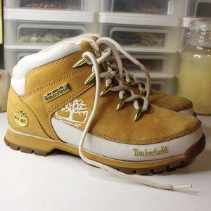 Euro Hiker Boot Timberland 8 Women Tan White Gold